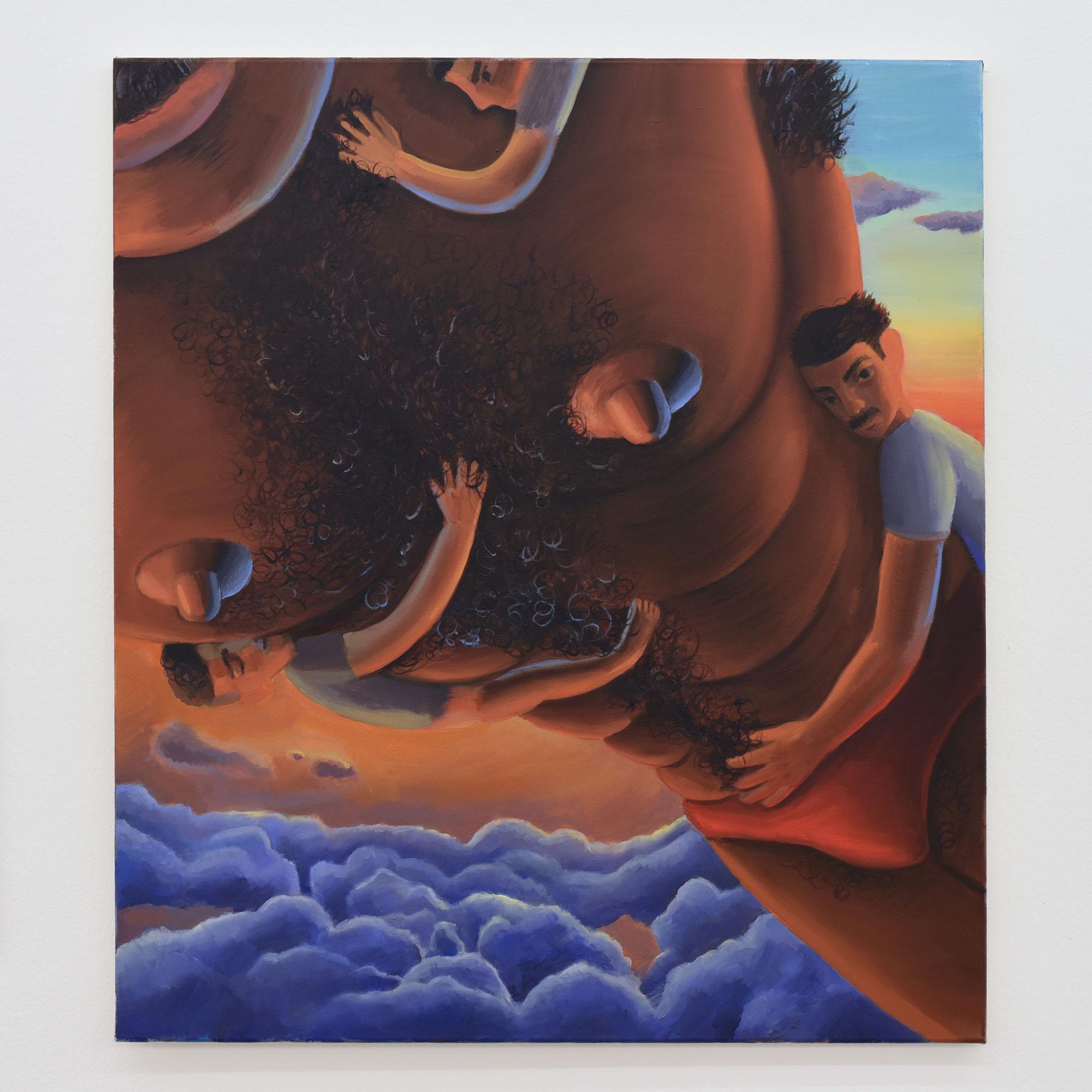 Murat Önen: Lob dem Vater, 88 x 78 cm, 2020, Öl auf Leinwand